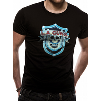 La Guns - Shield Logo Men's Medium T-Shirt - Black