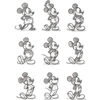 Mickey Mouse - Sketched - Multi Canvas