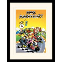 Super Mario Kart - Retro Mounted & Framed 30 x 40cm Print