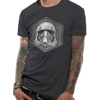 Star Wars 8 - Captain Phasma Badge Men's Small T-Shirt - Grey