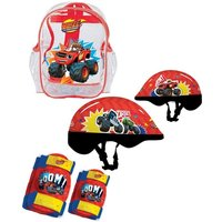 Blaze And The Monster Machines Helmet, Knee Pads, Elbow Pads & Bag Protection Pack