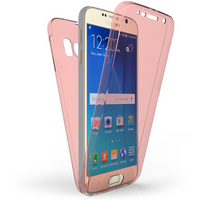 Samsung Galaxy S6 Full Body 360 TPU Gel Case - Rose Gold