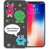 CASEFLEX APPLE IPHONE X I DON'T BELIEVE IN HUMANS CASE / COVER (3D)