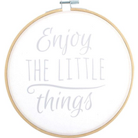 Enjoy The Little Things Hoop