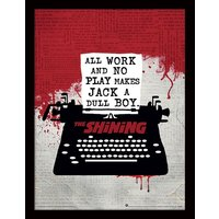 The Shining - Typewriter Framed 30 x 40cm Print