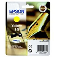 Epson C13T16244012 (16) Ink cartridge yellow, 165 pages, 3ml