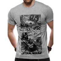 Star Wars - New Hope Manga Men's Medium T-Shirt - Grey