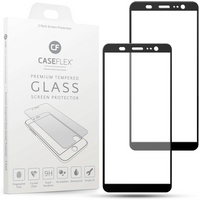 HTC U11 Plus Tempered Glass Screen Protector with Black Edge - Twin Pack