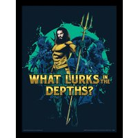 Aquaman - What Lurks in the Depths Framed 30 x 40cm Print