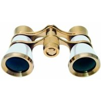 Braun Photo Technik Binocular Opera, 3X25, Gold/Pearly White