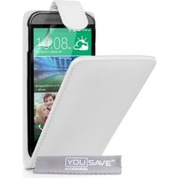 YouSave HTC One M8 Leather Effect Flip Case - White