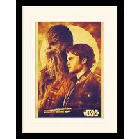 Solo: A Star Wars Story - Han and Chewie Mounted & Framed 30 x 40cm Print