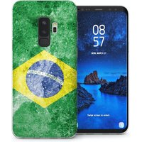 CASEFLEX SAMSUNG GALAXY S9 PLUS RETRO BRAZIL FLAG CASE / COVER (3D)