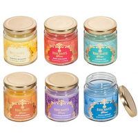 Assortment of 6 Esscents Candle in Glass Jar Pack Of 6