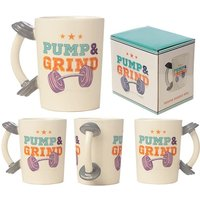 Dumbbell Shaped Handle Ceramic Collectable Mug