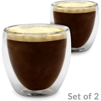 Double Walled Insulated Glasses | M&W Set of 2 - 80ml