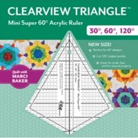 Clearview Triangle (TM) Mini Super 60 Degrees Acrylic Ruler