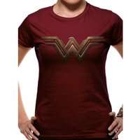 Batman Vs Superman - Wonder Woman Logo Fitted T-shirt Burgundy X-Large