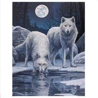 Small Winter Warrior Canvas Picture by Lisa Parker