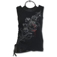 Fatal Attraction Women's Small 2 In 1 Pu Leather Vest Top - Black