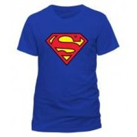 DC COMICS Superman Logo Unisex Large T-Shirt - Blue