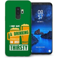 CASEFLEX SAMSUNG GALAXY S9 PLUS REALLY THIRSTY QUOTE - GREEN CASE / COVER (3D)