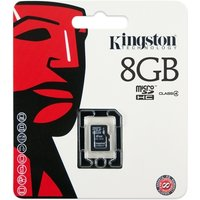 8GB microSDHC Class 4 Flash Card Single Pack w/o Adapter SDC4/8GBSP