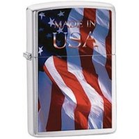 Zippo Made In USA Brushed Chrome Windproof Lighter