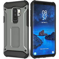 Samsung Galaxy S9 Plus Armoured Shockproof Carbon Case - Steel Blue