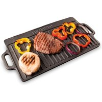 Savisto Cast Iron Reversible Griddle Plate with Non-Stick Coating