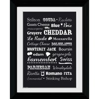 Cheese Types Collector Print
