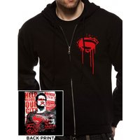 Batman Vs Superman - Superman Poster Men's Small Zipped Hoodie - Black