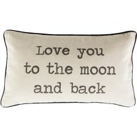 Sass & Belle Love You To The Moon And Back Rustic Cushion