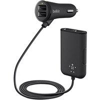 Belkin (36W) 7.2A Family Car Charger with Extension Hub 4 Port