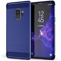 Samsung Galaxy S9 Carbon Anti Fall TPU Case - Blue