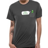 Rick And Morty - Big Reveal men's Large T-Shirt - Grey