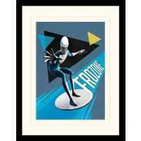 Incredibles 2 - Frozone Mounted & Framed 30 x 40cm Print