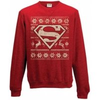 Superman Unisex Medium Christmas Jumper - Red