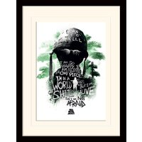Full Metal Jacket - World Of Shit Mounted & Framed 30 x 40cm Print