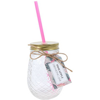 Pineapple Glass Drinking Jar Pack Of 6