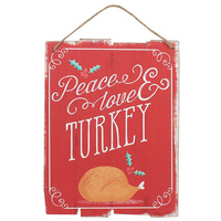 Peace, Love & Turkey Wall Plaque