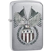 Zippo 1941 Replica American Flag Brushed Chrome Lighter