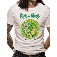 Rick And Morty - Portal Front Only Men's Medium T-Shirt - White