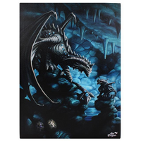 Large Rock Dragon Canvas Picture by Anne Stokes