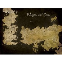 Game of Thrones - Westeros and Essos Antique Map Canvas