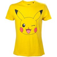 Pokemon Men's Pikachu Winking Small T-Shirt