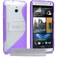 YouSave Accessories HTC One M7 Mini Leather-Effect Stand Case - Purple
