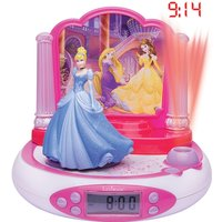 Lexibook RP510DP Disney Princess Projector Alarm Clock with Radio