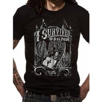 My Chemical Romance - I Survived Men's Small T-Shirt - Black