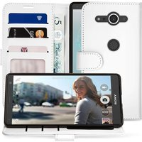 Sony Xperia XZ2 Compact PU Leather ID Stand Wallet - White